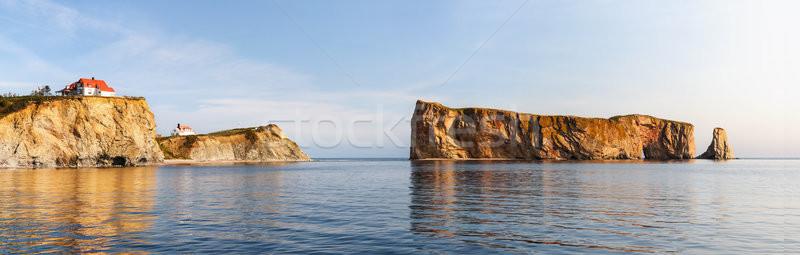 岩 半島 水 赤 パノラマ 反射 ストックフォト © elenaphoto