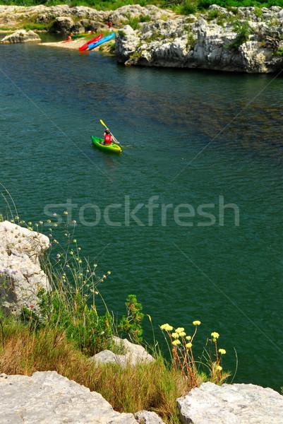 южный Франция реке воды пейзаж Сток-фото © elenaphoto