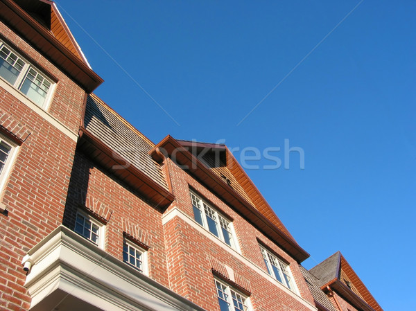 New brick townhomes Stock photo © elenaphoto