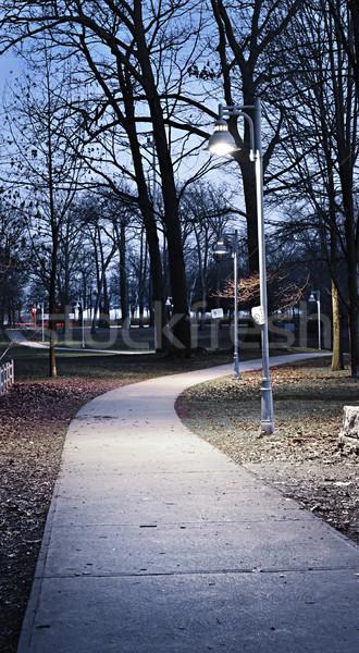 Park path at dusk Stock photo © elenaphoto