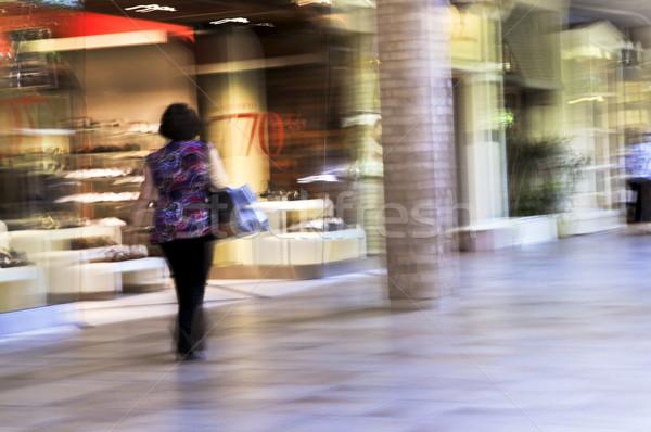 Foto stock: Mulher · tiro · moda · caminhada