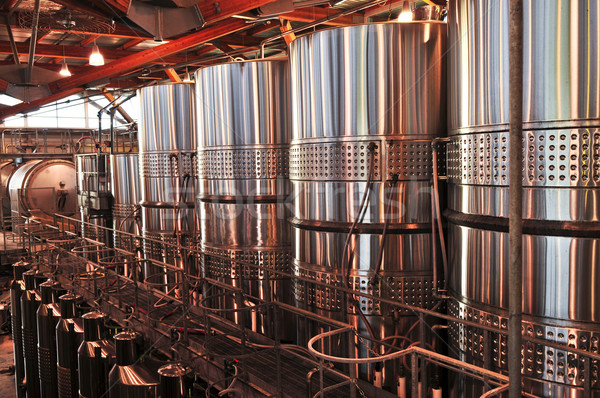 Сток-фото: вино · оборудование · тур · Winery · металл