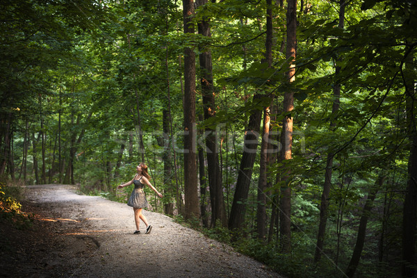 Stock photo: Dancing in forest