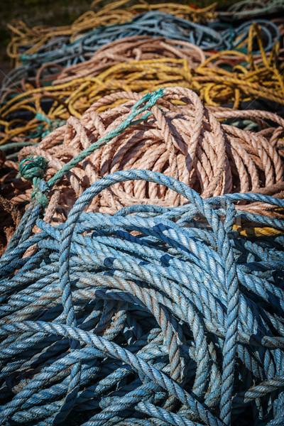 Pesca cuerdas norte isla del príncipe eduardo Canadá Foto stock © elenaphoto