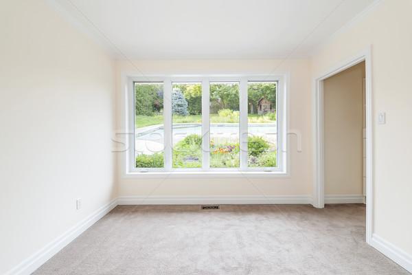 Pustym pokoju podwórko okno patrząc lata Zdjęcia stock © elenaphoto