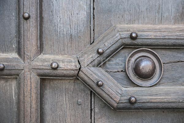 Old door detail Stock photo © elenaphoto