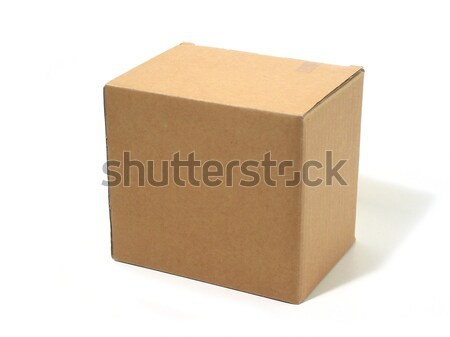 Blank box cardboard Stock photo © elenaphoto