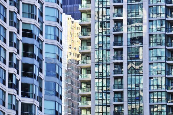 Apartment buildings Stock photo © elenaphoto