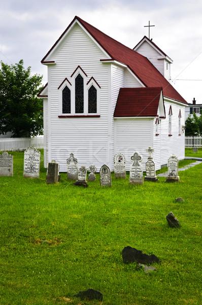 St. Luke's Church and cemetery in Placentia Stock photo © elenaphoto