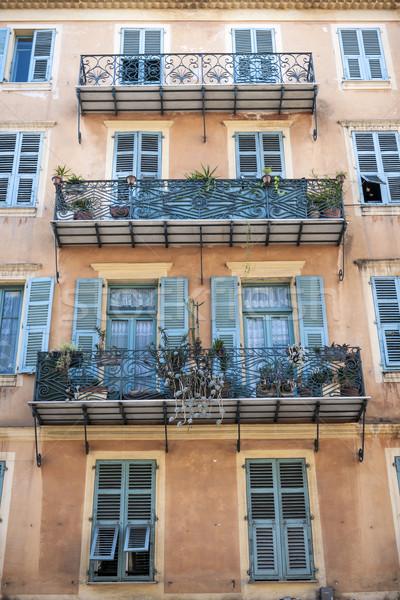 Building with balconies Stock photo © elenaphoto