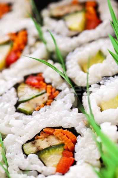 Zdjęcia stock: Sushi · taca · żywności · asian