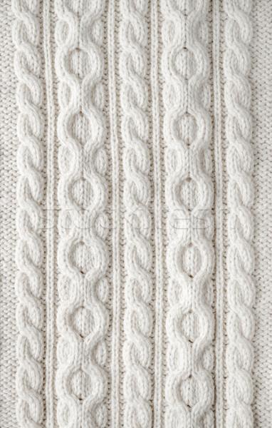 Cable knit fabric background Stock photo © elenaphoto