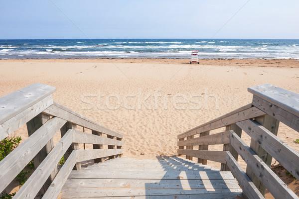 Entrada playa pasos líder isla del príncipe eduardo Foto stock © elenaphoto