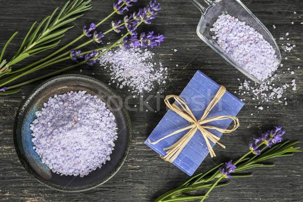 Test törődés fürdőkád kézzel készített szappan szárított növénygyűjtemény Stock fotó © elenaphoto