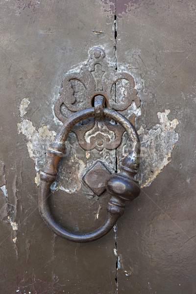 Antique door knocker Stock photo © elenaphoto