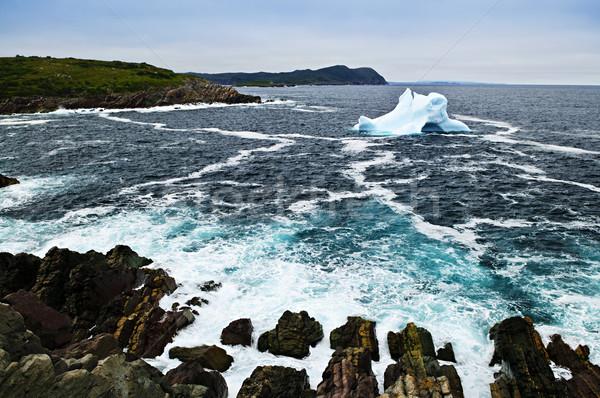 айсберг побережье Ньюфаундленд Канада Сток-фото © elenaphoto
