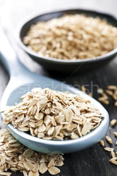 Rolled oats and oat groats Stock photo © elenaphoto