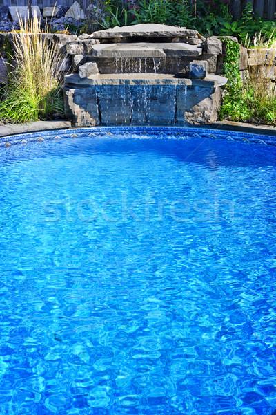 Stok fotoğraf: Yüzme · havuzu · çağlayan · açık · yerleşim · su · bahçe