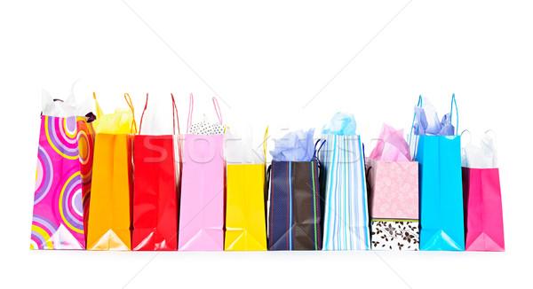 Row of shopping bags Stock photo © elenaphoto