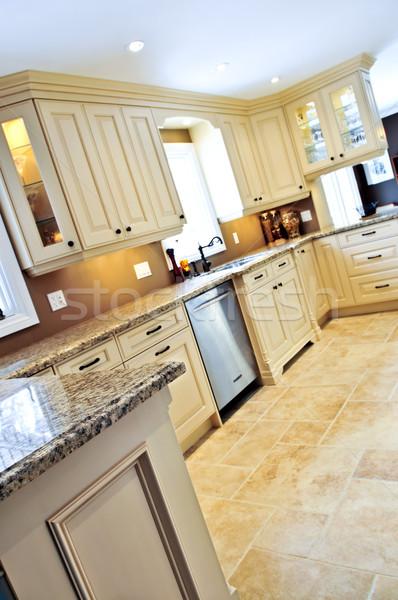 Photo stock: Modernes · cuisine · carrelage · étage · luxe · céramique