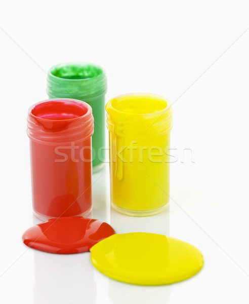 Paint of different colors spilled Stock photo © elenaphoto
