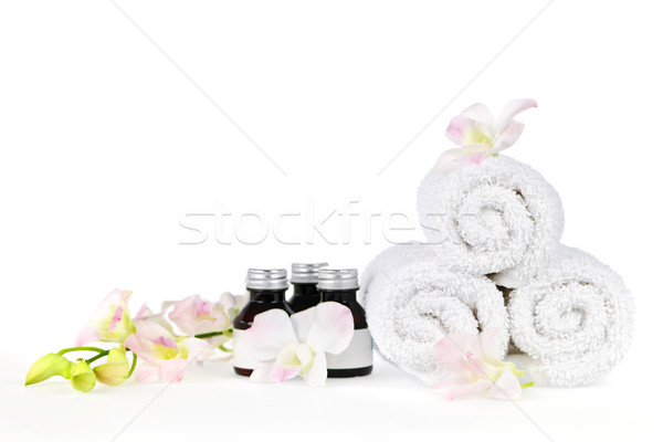 Rolled up spa towels Stock photo © elenaphoto