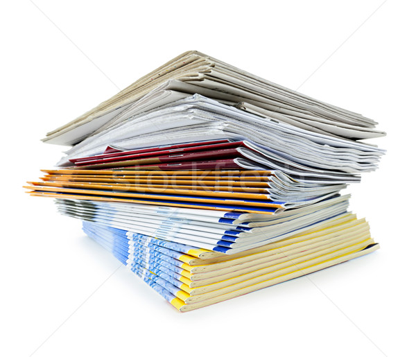Stack of magazines and newspapers Stock photo © elenaphoto