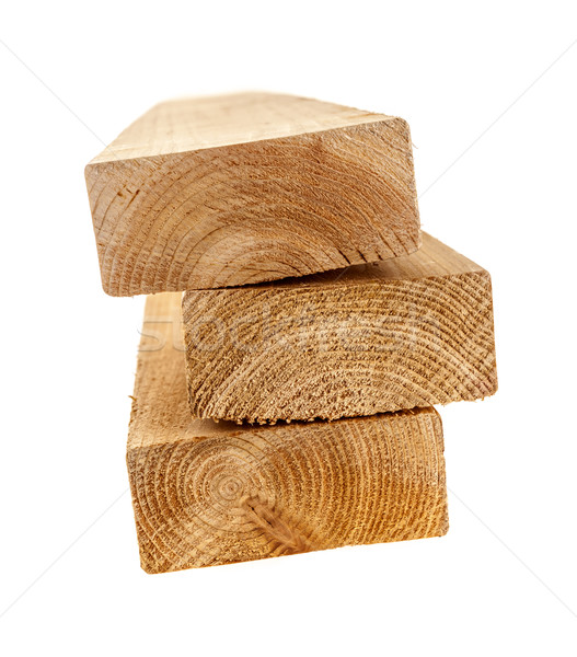 Isolated wood 2x4 studs Stock photo © elenaphoto