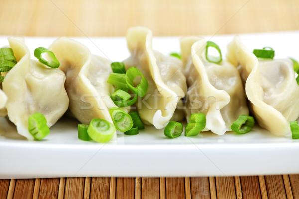 Plaat gekookt chinese voedsel restaurant diner Stockfoto © elenaphoto