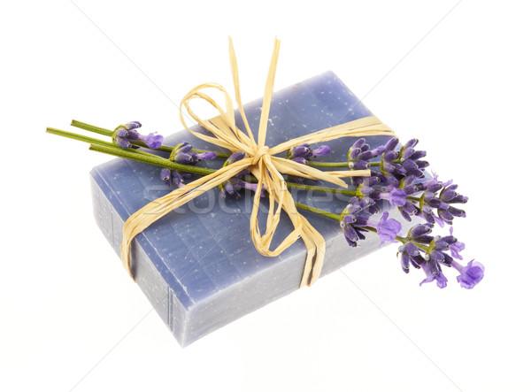 Lavender handmade soap Stock photo © elenaphoto