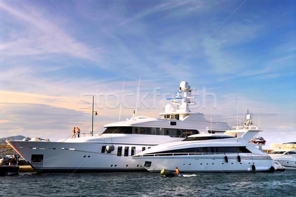 Luxury yachts Stock photo © elenaphoto