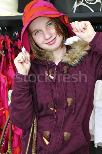 Teenage girl shopping Stock photo © elenaphoto