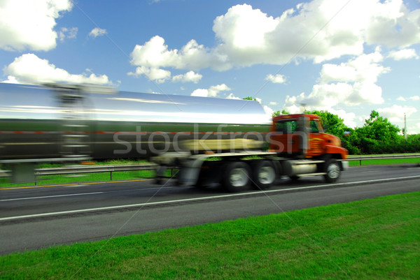 Speeding truck gasoline Stock photo © elenaphoto