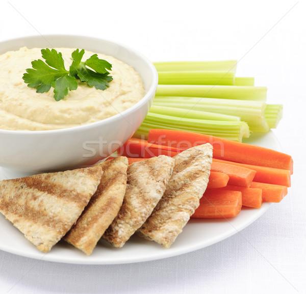 Stockfoto: Pita · brood · groenten · gezonde · snack