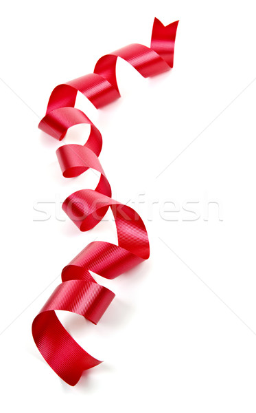 Curled red holiday ribbon Stock photo © elenaphoto
