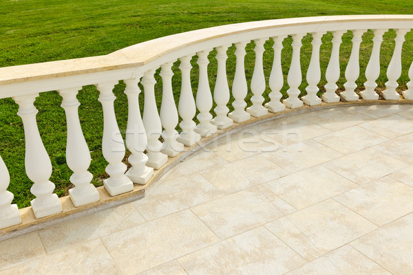 Patio with railing Stock photo © elenaphoto