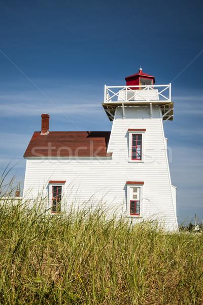 Norte faro colina isla del príncipe eduardo Canadá cielo Foto stock © elenaphoto