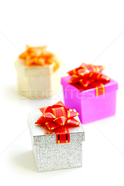 Gift boxes Stock photo © elenaphoto
