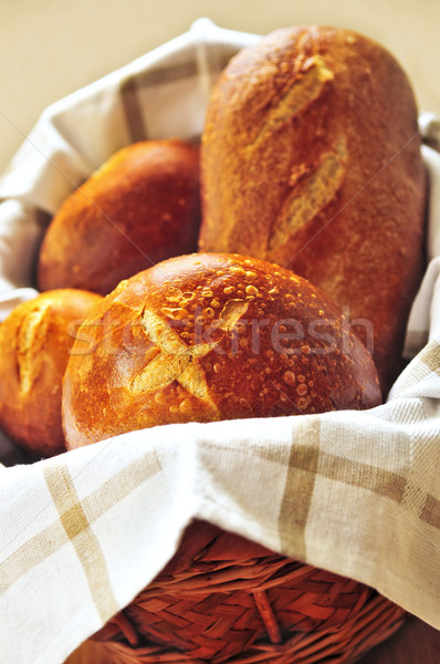 Bread in basket Stock photo © elenaphoto