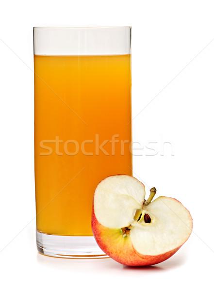 Sok jabłkowy szkła odizolowany biały jabłko soku Zdjęcia stock © elenaphoto