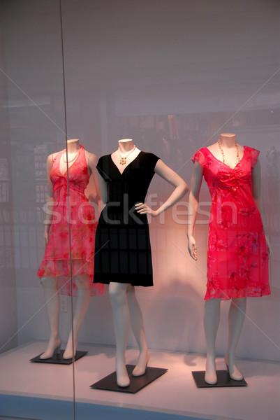 магазине окна женщины свет улице Сток-фото © elenaphoto