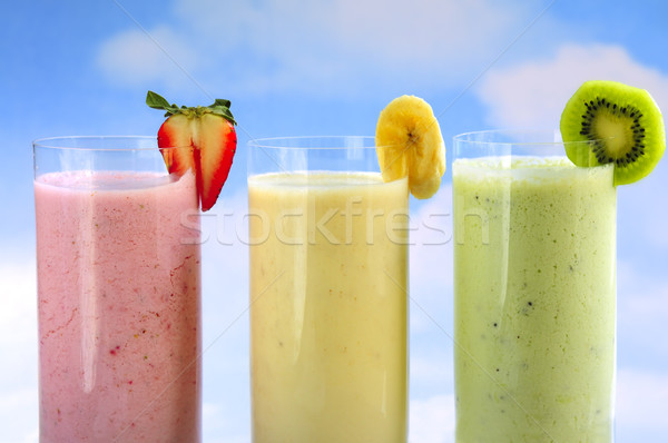 Stock photo: Assorted fruit smoothies
