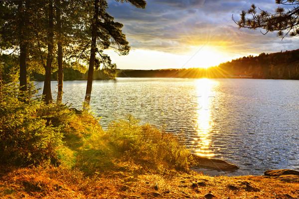 Wygaśnięcia jezioro dwa parku ontario Zdjęcia stock © elenaphoto