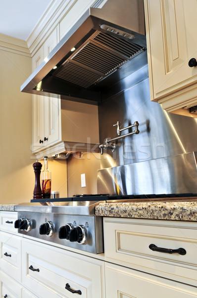 ストックフォト: キッチンのインテリア · インテリア · 現代 · 高級 · キッチン · ステンレス鋼