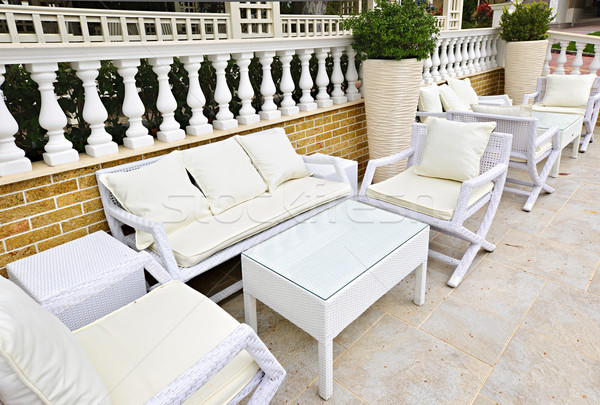 Patio furniture outdoor Stock photo © elenaphoto