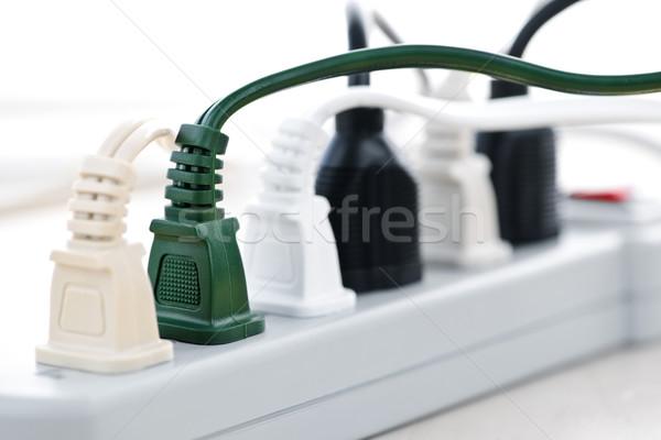 Fios poder bar muitos elétrico tecnologia Foto stock © elenaphoto