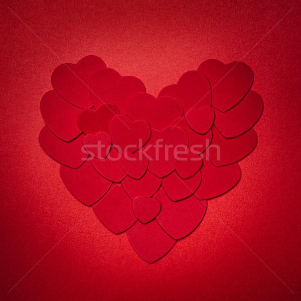 Red Valentines day heart Stock photo © elenaphoto