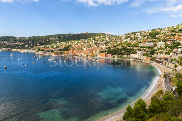 Villefranche-sur-Mer harbour view on French Riviera Stock photo © elenaphoto