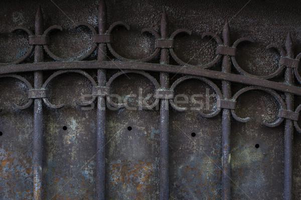 Old metal gate Stock photo © elenaphoto