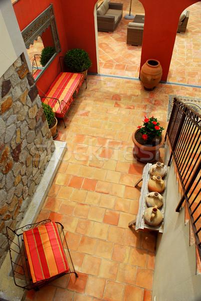 Villa middellandse zee frans huis ontwerp home Stockfoto © elenaphoto